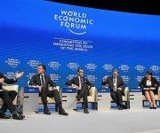 """La """"élite de Davos"""". Foto: Libre Red."""