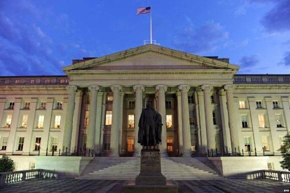 Edificio sede del Departamento del Tesoro en Washington. Foto: EFE.