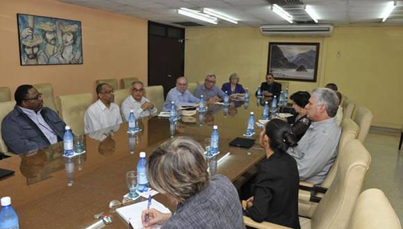 Intercambia vicepresidente cubano Miguel Díaz- Canel con líderes religiosos estadounidenses. Foto: Juvenal Balán/ Granma.