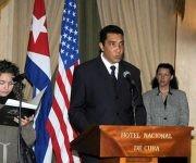 El viceministro de Desarrollo del Ministerio de Transporte (Mitrans), Eduardo Rodríguez Dávila en la ceremonia para suscribir Acuerdo de Cooperación antiderrame de hidrocarburos en el Golfo de México y el Estrecho de la Florida
