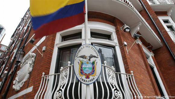 Embajada de Ecuador en Londres. Foto: Getty Images.