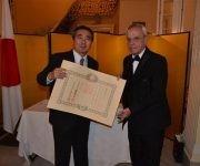"""""""Sus logros no se limitan a rescatar la historia, sino también a hacerla trascender a nuestros días"""", continuó el Excelentísimo Señor Masaru Watanabe."""