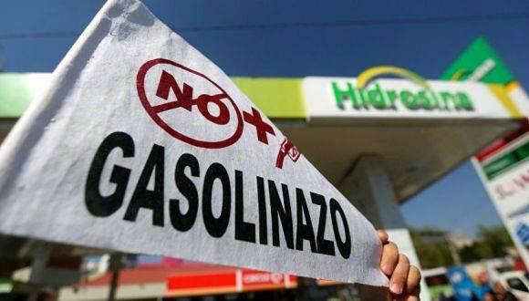 Continúan en México las protestas con el alza de la gasolina. Foto: Sputnik Mundo.