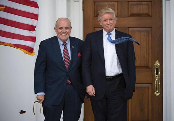 Rudy Giuliani, un ex fiscal de 72 años, fue uno de los principales asesores de Donald Trump durante la campaña. Foto: AFP.