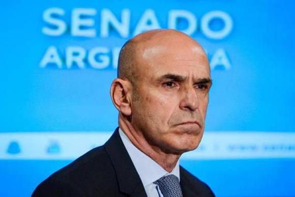 """""""Por datos que tenemos, los 600.000 dólares aún están en su cuenta"""", afirmó Recalde. Foto: Política Argentina."""