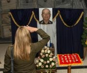 Honras fúnebres del General de División Carlos Fernández Gondín, Héroe de la República de Cuba, y Ministro del Interior (MININT), en el Panteón de los Veteranos de la Necrópolis de Colón, en La Habana, el 9 de enero de 2017.      ACN FOTO/ Marcelino VÁZQUEZ HERNÁNDEZ/ rrcc