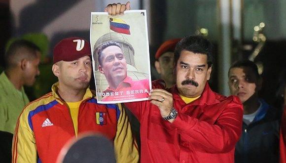 """""""Hoy recordamos y elevamos nuestro amor, nuestro recuerdo y nuestra oración por Robert Serra"""", dijo Maduro. Foto: Archivo."""
