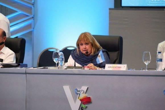 Imágenes de la participación de Susana Malcorra en #CELACRD2017. Foto: @PresidenciaRD.