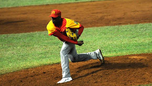Jonder Martínez abrirá por Matanzas el sexto desafío. Foto: Katherine Felipe/ Cubadebate.