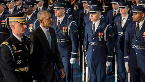 Obama estuvo en guerra durante todo su tiempo en el poder. Foto: AFP.