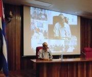 Ariel Terrero durante su intervención sobre periodismo económico. Foto: YAG.