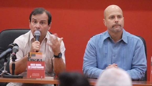 Presentación del Libro: Base Naval: En Guantánamo Estados Unidos versus Cuba. Fernando González y Gerardo Hernández. Foto: Anabel Díaz/ Granma.