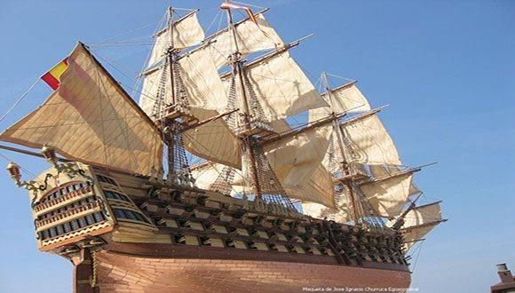 El Santísima Trinidad fue el buque más grande del mundo en el siglo XVIII Foto: modelismonaval.com