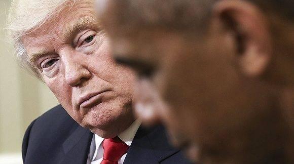 El presidente de Estados Unidos, Barack Obama, recibe en la Casa Blanca al ganador de las elecciones, Donald Trump, el pasado 10 de noviembre de 2016. Foto: AP.