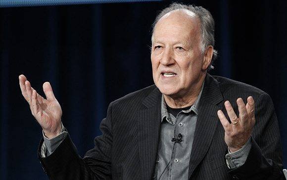 "German director Werner Herzog answers a question during the panel for the Discovery Networks documentary series ""On Death Row"" at the Television Critics Association winter press tour in Pasadena, California January 13, 2012. REUTERS/Mario Anzuoni(UNITED STATES - Tags: ENTERTAINMENT)"