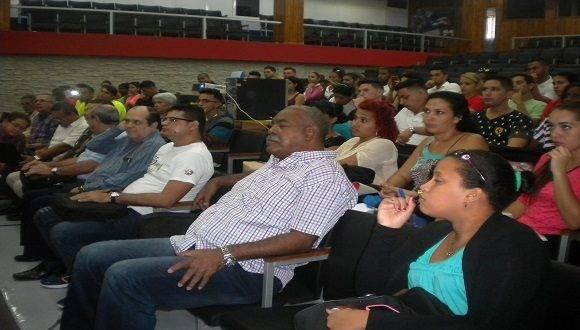 Conferencia inaugural del Encuentro de Estudiantes de Cultura Física. Foto: Thalía Fuentes