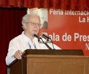 Frei Betto, Teólogo brasileño y uno de los máximos exponentes de la Teología de la Liberación, durante su intervención en la presentación del título Frei Betto, una biografía, en la sala Nicolás Guillén, durante la XXVI Feria Internacional del Libro de La Habana, en la fortaleza San Carlos de La Cabaña, el 17 de febrero de 2017. ACN FOTO/Rafael FERNÁNDEZ ROSELL/sdl