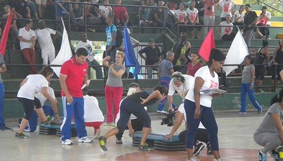 Principales ejercicios combinados del FITT- Cuba 2017 Foto: Thalía