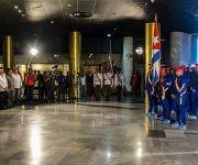 Acto de abanderamiento de la Selección Nacional, al IV Clásico Mundial de Béisbol, en acto realizado en el Memorial José Martí, en La Habana, Cuba, el 16 de febrero de 2017.     ACN  FOTO/ Abel PADRÓN PADILLA/ rrcc