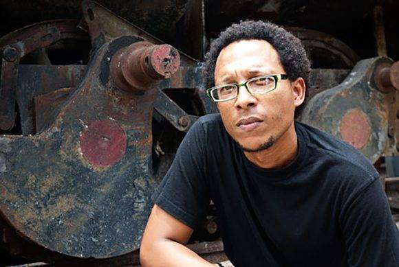 Ahmel Echeverría ganó el Premio Alejo Carpentier en Novela. Foto: Leopoldo Luis.