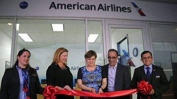 inauguran primera oficina de american airlines en cuba