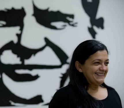 Clarisa López, hija de Oscar López Rivera. Foto: Teresa Canino.