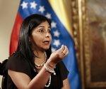 La canciller de Venezuela, Delcy Rodríguez, durante una entrevista con Reuters, en su oficina en Caracas, 14 de julio de 2015. Foto: Reuters.