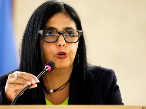 Delcy Rodríguez. Foto tomada de Diario La Calle.