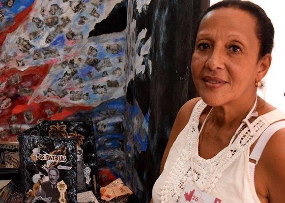 Estela Ación trabaja hace varios años en Ediciones Vigía. Foto: Cinthya García Casañas/ Cubadebate.