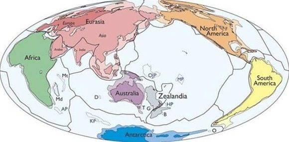 El continente, tal y como explican los investigadores, tiene una superficie de 5 millones de Km2 (GSA)