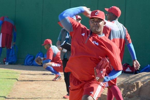Vladimir Gracía en Culiacán, durante el entrenamiento del equipo Granma, Cuba. Foto: Ricardo López Hevia.
