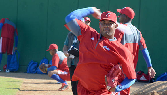 Beisbol-Serie del Caribe-Culiacan entrenamiento del equipo Granma, Cuba