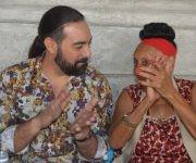 Alaín Pérez y Omara Portuondo en la presentación del disco Raíz. Foto: Marianela Dufflar / Cubadebate