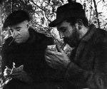 Histórica foto de Fidel junto al periodista Herbert L. Matthews. Foto: Oficina de Asuntos Históricos del Consejo de Estado/ Fidel Soldado de las Ideas.