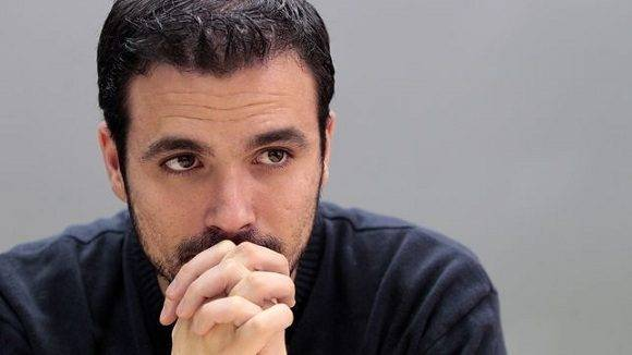 El diputado de Izquierda Unida Alberto Garzón. Foto: Marta Jara.