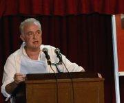 El novelista irlandés Joseph O´Connor, autor de la obra El crimen del Estrella de Mar, durante su intervención en la presentación del libro, en la sala Nicolás Guillén, de la fortaleza San Carlos de La Cabaña,  en la XXVI Feria Internacional del Libro de La Habana, Cuba, el 16 de febrero de 2017. ACN FOTO/Rafael FERNÁNDEZ ROSELL/sdl