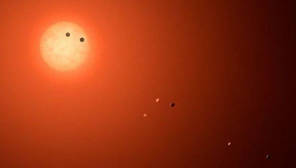 Las órbitas de los planetas hallados son muy compactas. Foto: Nasa.