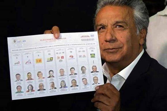 Resultados preliminares dan victoria a Lenín Moreno en Ecuador