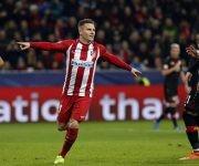 Partido de Champions League, liga de campeones entre Bayer Leverkusen y Atlético de Madrid. Ida de los octavos de final