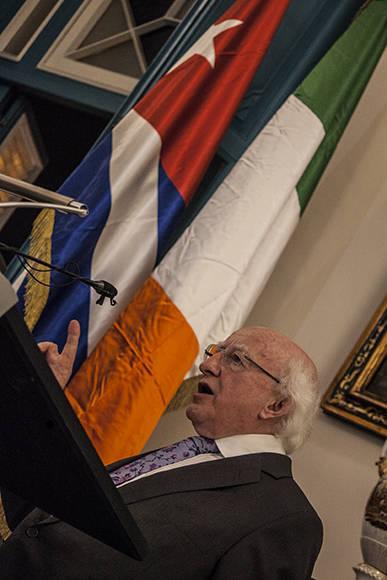 """Michael D. Higgins, presidente de Irlanda, inaugura exposición """"Los Irlandeses en América Latina"""", en el Palacio del Segundo Cabo. Foto: L Eduardo Domínguez/ Cubadebate"""
