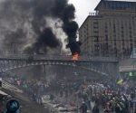 Ataques con artillería sacudieron ayer jueves el este de Ucrania. Foto: Origen.