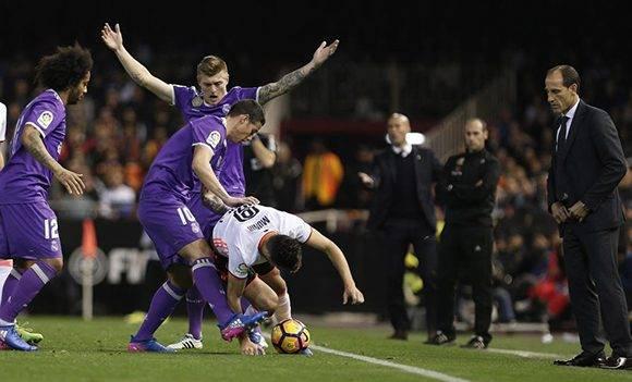 VALENCIA. 22/02/2017. PARTIDO DE FUTBOL VALENCIA CF Y REAL MADRID.