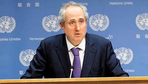 El vocero instó a las partes a regresar a las negociaciones de paz, sobre la base de las resoluciones adoptadas por el Consejo de Seguridad. Foto: ONU