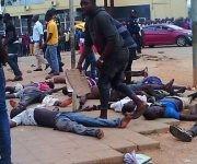 Estampida en terreno de fútbol en ciudad angolana deja varios muertos y heridos. Foto: Agencias.