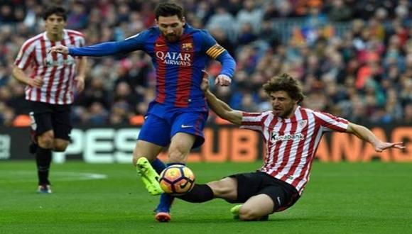 Con un gol de Messi, Barcelona vence 3-0 al Athletic