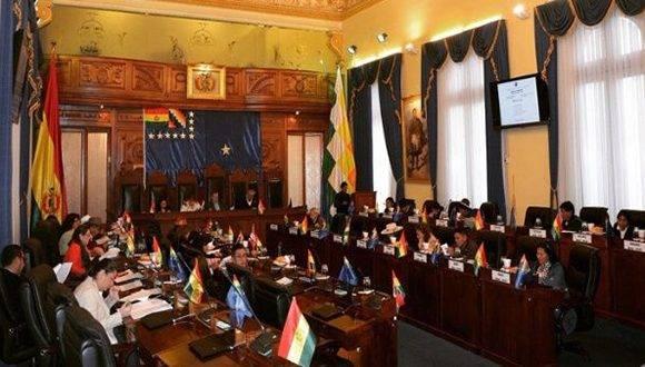 La Cámara de Senadores boliviana discutirá la aprobación del proyecto de ley de coca, que fue objeto de polémicas y manifestaciones en el país. Foto: ABI