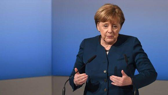 La canciller alemana, Angela Merkel, habla en la Conferencia de Seguridad de Múnich, 18 de febrero de 2017.