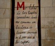 Fragmento del poema ´´Sonreídme´´ del poeta español. Foto: Jennifer Romero.