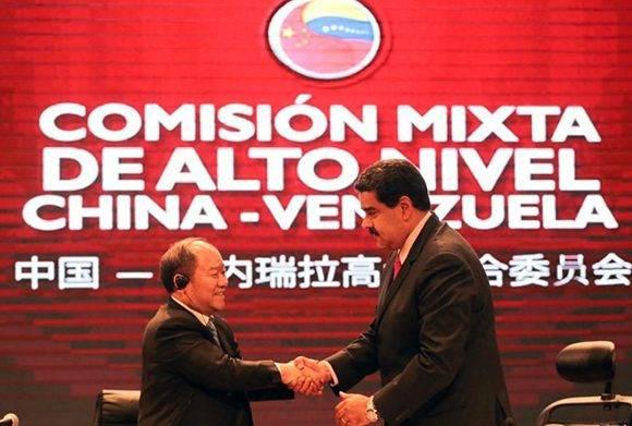 Venezuela y China firmaron 22 acuerdos. Foto: @PresidencialVen/ Twitter.