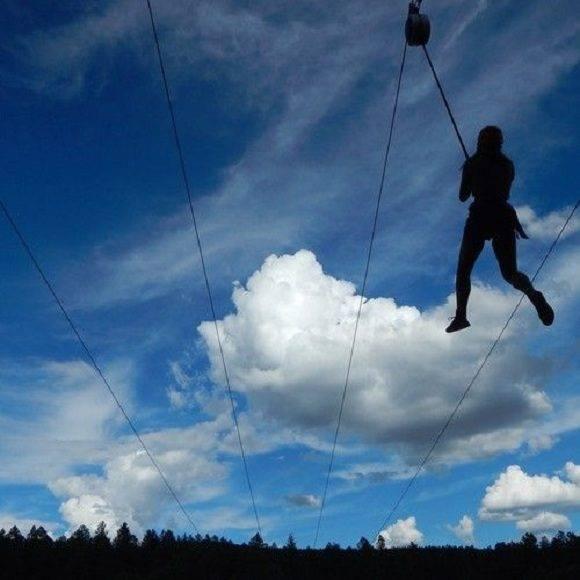 El cielo es el límite. Ryan Hughes tiene 13 años y es de Estados Unidos. Hizo esta foto de aventuras con la que ganó el segundo puesto en la categoría de Vacaciones Salvajes. Foto: Ryan Hughes/ National Geographic.